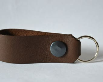 Leather keyring/keychain/key fob