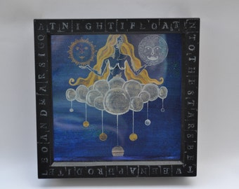 Gaia Solar System Box Framed Painting