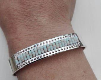 Bracelet Bangle and Miyuki beads