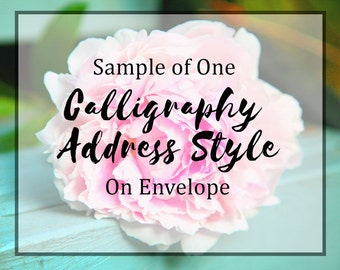 Sample Calligraphy Envelope-1 style