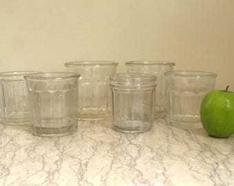 group of vintage French jelly jars