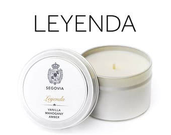 Leyenda - Vanilla & Amber and Mahogany Soy Candle 4 oz Tin