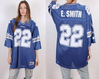 Vintage Starter Jersey Dallas Cowboys // 90s Emmit Smith 22 NFL Football Shirt - Extra Large xl 52