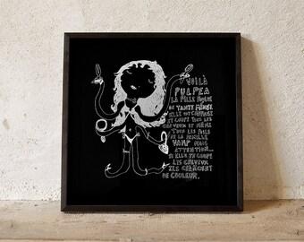 Child book Pulpea silkscreen poster