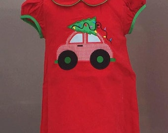 Red Christmas car dress
