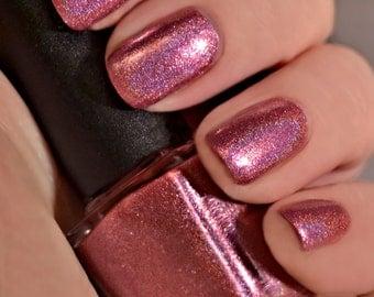 Glitzed - Pink Metallic Holographic Nail Polish