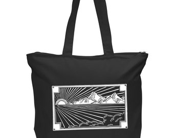 Black and gold or black and white Tote Bag