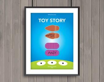 TOY STORY, minimalist movie poster