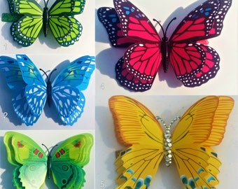 Large 3D Butterfly Hairclips