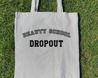Beauty School Dropout - custom canvas tote, reusable bag, book tote bag, grease