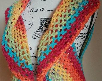 Crochet Adult Circle Vest