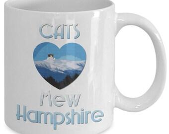 "Cats Heart ""mew"" Hampshire Mug Mt. Washington"