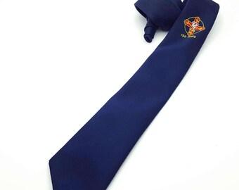 "Watson Prickard Liverpool 150 Years Anniversary Skinny 2.5"" Vintage necktie men's tie neckwear polyester Made in England"