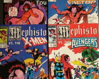 Marvel Comics Mephisto VS. The Fantastic Four, Xmen, Avengers, XFactor Limited Series 1-4