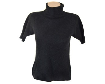 Vintage Staccato ® women top blouse polo sweater black size M