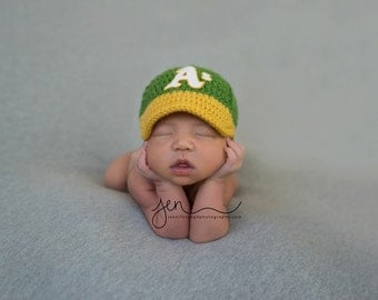 Baby Baseball Cap, Hat, Athletics inspired, Made to Order