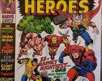 Rare comic Marvel super heroes 1969 fine