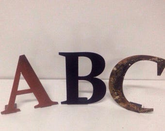 6 Inch Metal Letters Enchanting Metal Fabrication  Etsy Inspiration