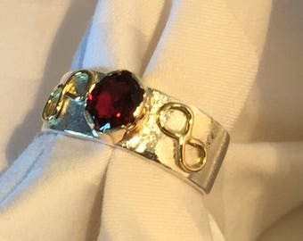Ring, Red Spinel and Gold.