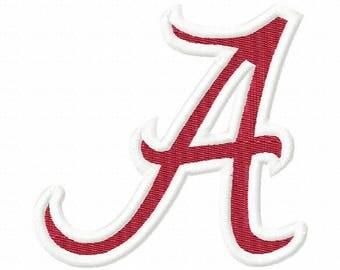 Alabama Embroidery Design,Alabama, Alabama University, Crimson Tide, Crimson Embroidery, Football Embroidery, Machine Embroidery