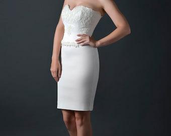 bridal gown/destination wedding dress/wedding dress separates