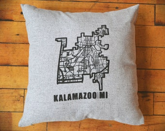Kalamazoo Map (Grey)
