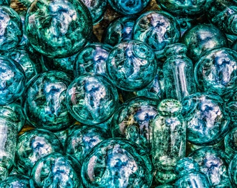 "Fishing Float Glass Balls Photo, Vintage Fishing Glass Balls Print,""Fishing Float Glass Balls 1"""