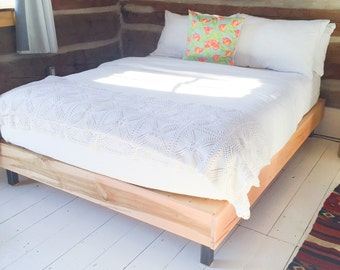 Solid Wood Bed — Queen size