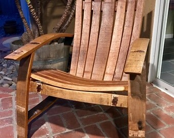 Wine Barrel Stave Adirondack Chair