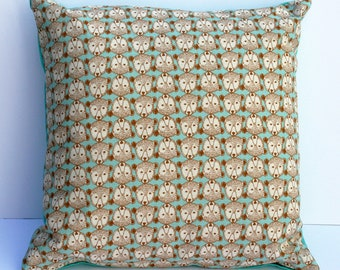 SALE Scandinavian style bear print cushion in turquoise (cushion pad included)