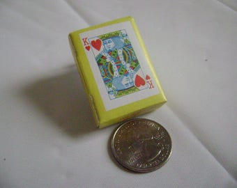 Vintage Playing Cards, Miniature, World's Smallest Card Deck, Old Stock, 1960's