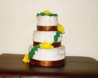 wedding cake pinata. Birthday cake pinata.