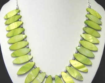 Lime Mother of Pearl necklace