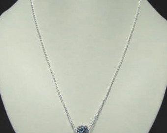 Sapphire Swarovski pendant