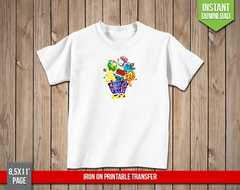 SHOPKINS Shopping Cart Iron On Printable Transfer - Trolley Iron Ons Transfer T-Shirt Decoration - Digital PNG File, Instant Download