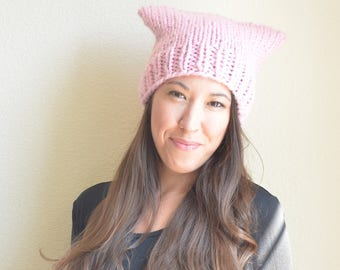 Pussy Hat, Pink Pussy Hat, Pink Cat Hat, Pussy Hat Project, Cat Hat, Super Cat Hat, Donations Made to PP