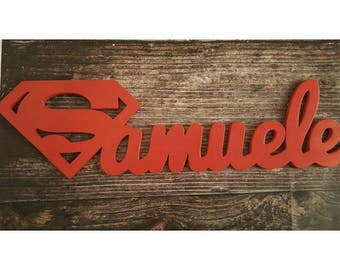 Names in Wood Superman