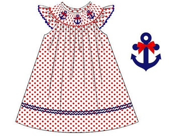 Smocked Anchor Dress