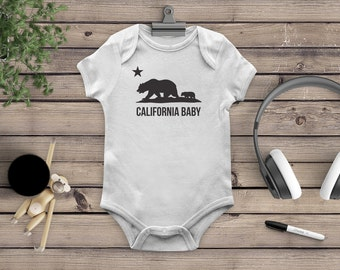 California Baby Onesie, California Baby Bodysuit, Cali Bodysuit, Cali Onesie, California Bear, California Parents, California Mom, Cali baby