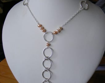 Necklace - 925 Sterling Silver and Pearls