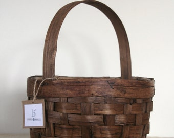 Bamboo vintage basket