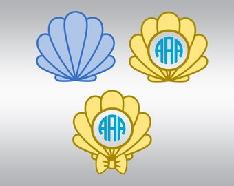 Sea life svg, Sea shell svg, Seashell svg, Seashell monogram svg, Beachs svg, Beach monogram svg, Cricut, Cameo, Clipart, Svg, DXF, Png, Eps
