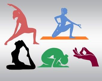 Yoga svg, Yoga pose svg, Pilates svg, Namaste svg, Fitness svg, SVG Files, Cricut, Cameo, Cut file, Files, Clipart, Svg, DXF, Png, Pdf, Eps