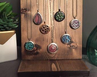 Essential Oil Diffuser Locket Necklace -  Circles
