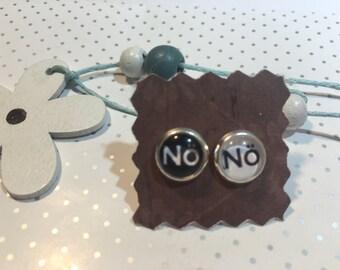 """Earrings earrings cabochon """"Nö"""""""