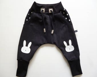Baby pants Mitwachsen pants size 74 Upcycling Bunny