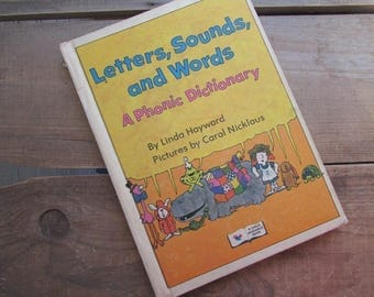Children's Dictionary Letters Sounds and Words A Phonic DIctionary VIntage Child Guidance Book