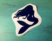 Mermaid - Vinyl Decal - Mermaid Outline Decal