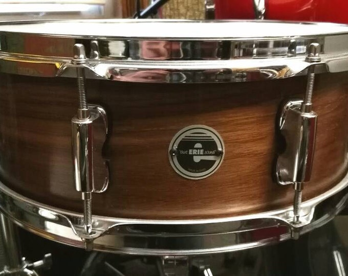 14x5 solid shell,single ply black walnut snare drum by Erie drums