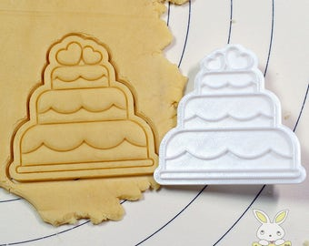 Wedding Cake Cookie Cutter and Stamp